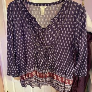 Paisley patterned blouse
